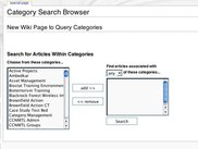Category Search Widget
