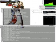 Megatron 2 in Xvnc desktop with Audacious backend