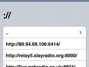 Web GUI: Retransmitting Internet-radio
