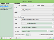 One-Click profiles editor