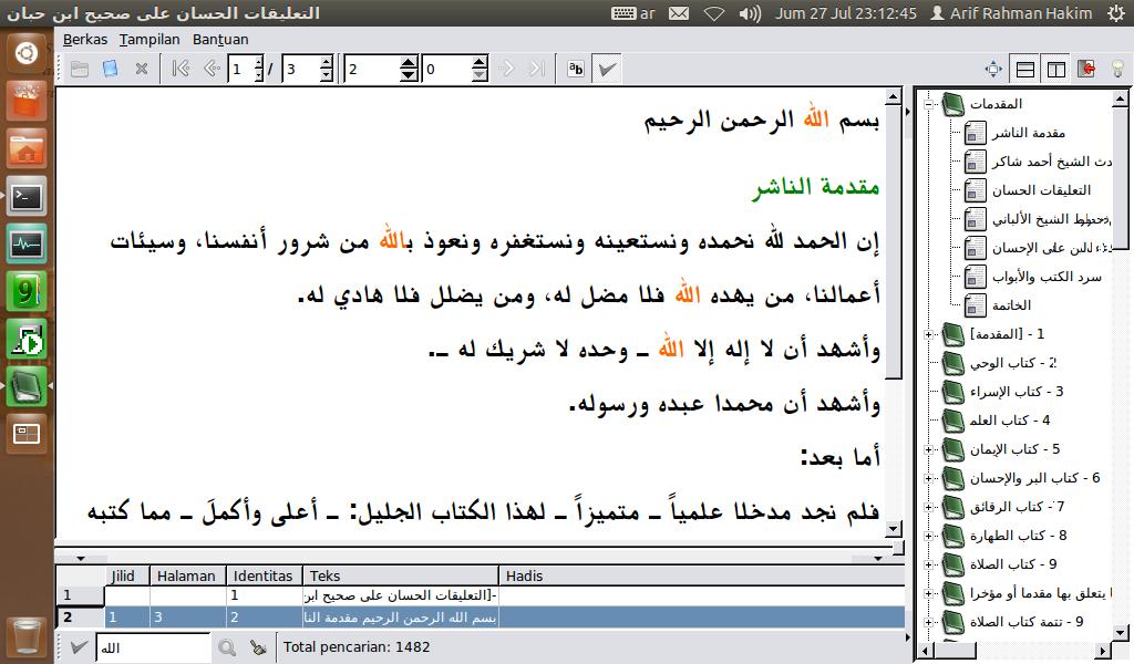 Maktabah Al-Miftah 0.1.1 di Ubuntu 12.04