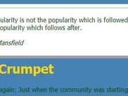 "As tested on the ""Daily Crumpet"" we site"