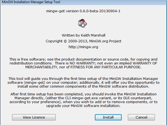 Installer Setup -- Opening Dialogue