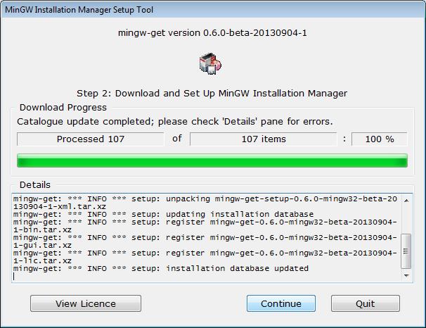 Installer Setup -- Download Dialogue