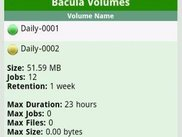 MN Viewer 0.1 - Bacula Volumes