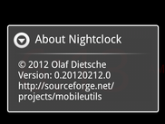 Nightclock about dialog
