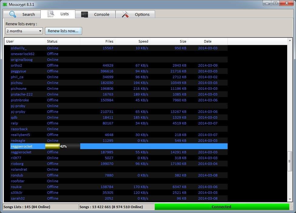 Mosscrypt screenshot