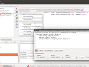 Several languages are available to express contextual conditions. On this screenshot you can see in the dialog box a Prova context, expressed using an implementation of Prolog. In the main MotOrBAC GUI you can see a BeanShell context