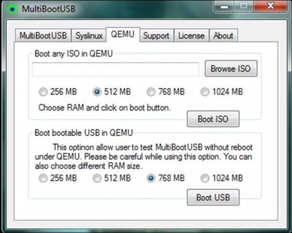 MultiBootUSB full screenshot