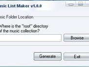 Music List Maker application window (running).