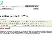 MyFWB Administration - Editing an exiting page