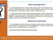 myImageClock in a Webpage Side-Column