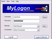 Network-logon window