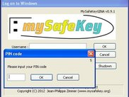 4 MySafeKeyGINA - flash detected - PIN code input