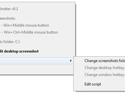 The complete GUI of MyScreenshotter - its tray context menu
