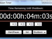 3 Shutdown mode - Time set, countdown not started