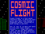 Cosmic Flight (Game that comes with OS)