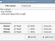 Create Nautilus Files Script Main Window