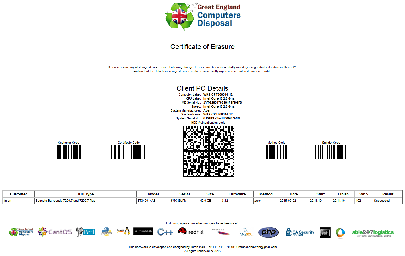 Drive certificate template 28 images drive certificate drive certificate template free lan disk data erase wiping 1betcityfo Images