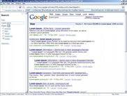 "Searching for ""Lorem Ipsum"" in Google using Nex."