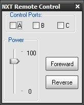 The medium-level remote-control dialog.