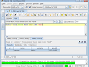 Nf1 database engine in action with SQuirreL SQL Gui Client - Select Statement