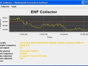 A Live view when collecting ENF Data