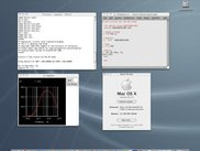 ngspice running on MacOSX (nedit is the external editor)