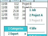 Accumulated view (per week) and export/import functions