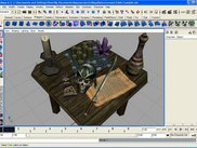 Maya - Several Misc objects imported and arranged on a table