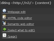 Nornix web page editing modes.