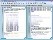 Notepad++ in action for SQL file