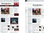 The New York Times site as it is and then when NoTrace is applied