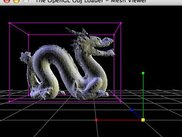 Dragon model, with Tool-generated normals - Tool v0.2.0