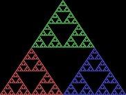 The Sierpinski triangle at work.