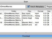 Scan just finished (additional metadata now available).