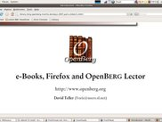 Slides with OpenBerg Lector 5, version 0.3.1, Linux