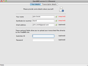 Your details page (Mac OS X)