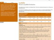 mySkills - reviewing a completed multi-rater evaluation