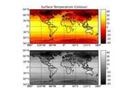 Surface Temperature with a continuous color scale.
