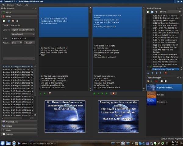OpenLP 2.0 on Kubuntu 9.04 Linux