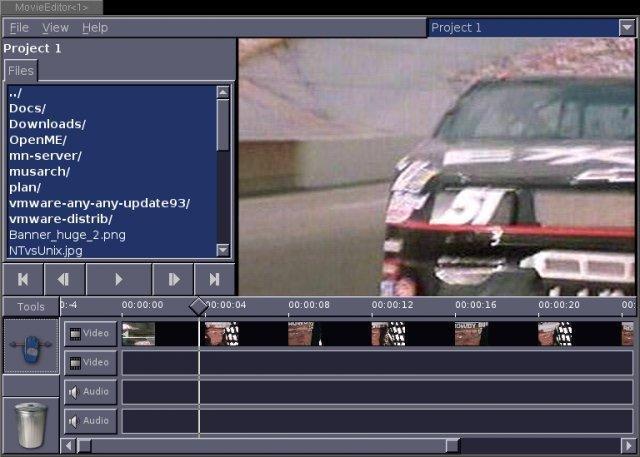 Open Movie Editor screenshot
