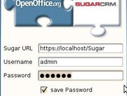 SugarCRM Addon Login screen