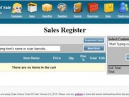 Sales register page