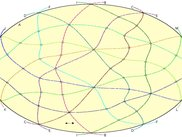 A drawing of a projection of one of Tsukamoto's oriented matroids