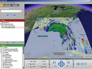 Seacoos maps projected into Google Earth