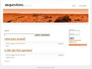 osQuestions homepage