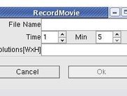 Record Movies for a specified interval of time