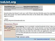 OpenSourceList.org homepage
