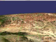 Oblique view with terrain through osgPlanetviewer/OSSIM